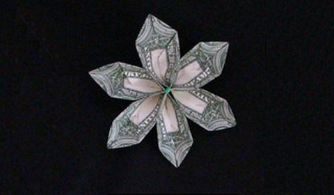 Как сделать цветок из денег