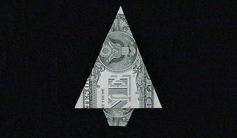 ёлка из денег