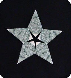Как сделать звезду из деньги 690