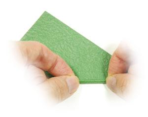 стебель розы оригами 6