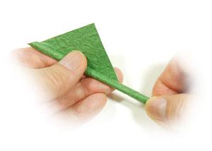 стебель розы оригами 7