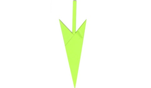 Готовый стебель оригами!