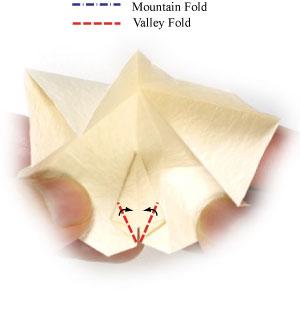 колокольчик оригами из бумаги 13