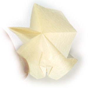 колокольчик оригами из бумаги 14
