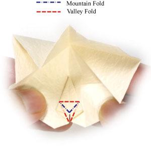 колокольчик оригами из бумаги 15