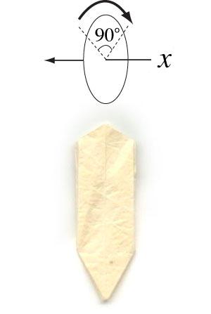 колокольчик оригами из