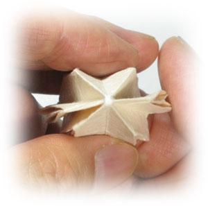 колокольчик оригами из бумаги 21