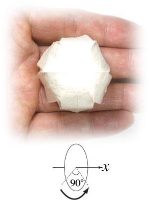 колокольчик оригами из бумаги 22