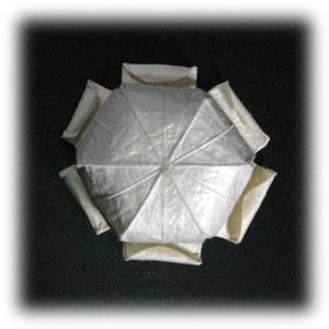 колокольчик оригами из бумаги 26