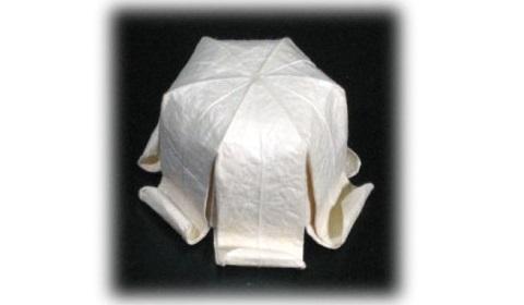 колокольчик оригами из бумаги
