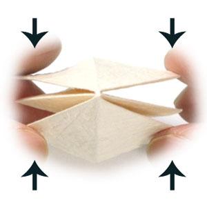колокольчик оригами из бумаги 4