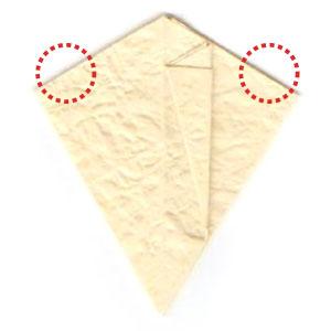 колокольчик оригами из бумаги 8