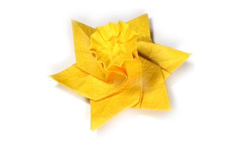 Нарцисс. нарцисс оригами 51