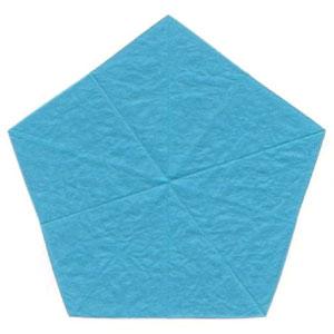 незабудка оригами 4