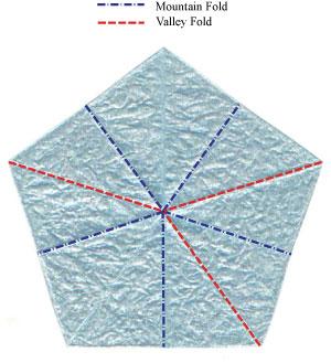 незабудка оригами 5