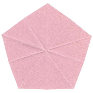 Барвинок оригами из бумаги 2