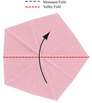 Барвинок оригами из бумаги 3