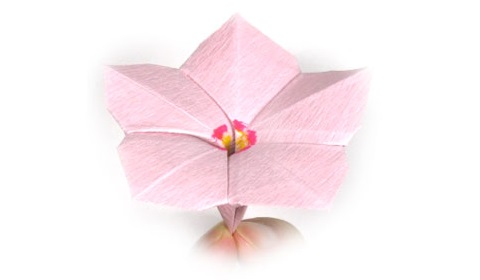 Барвинок оригами из бумаги 35