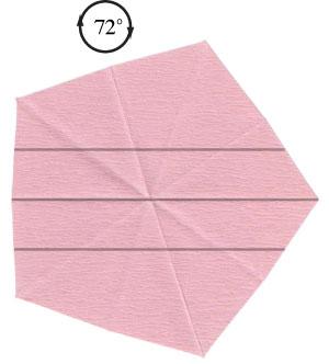 Барвинок оригами из бумаги 5