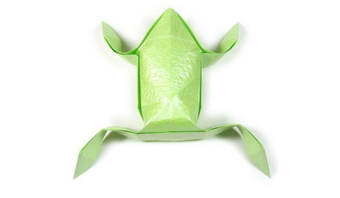 Оригами из бумаги лягушка 22