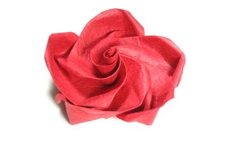 Роза в технике оригами 46