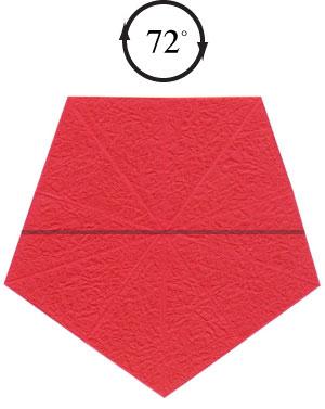 Роза в технике оригами 5