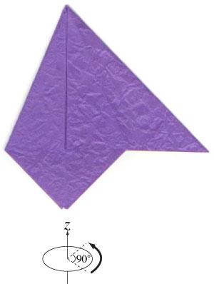 анютины глазки оригами 6