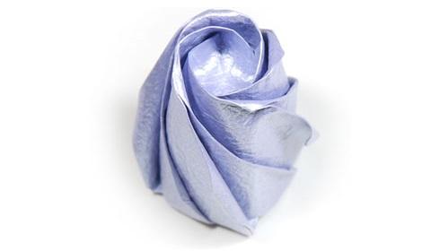 бумажная роза 48
