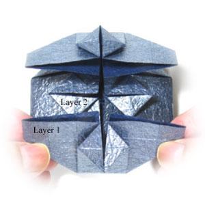 ваза оригами из бумаги 21