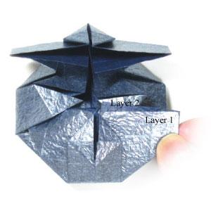 ваза оригами из бумаги 22