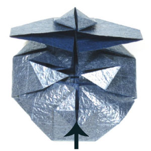 ваза оригами из бумаги 23