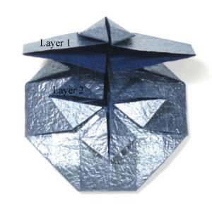 ваза оригами из бумаги 24