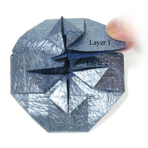 ваза оригами из бумаги 25