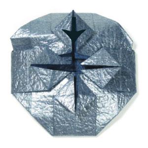 ваза оригами из бумаги 26