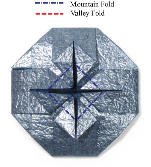 ваза оригами из бумаги 27