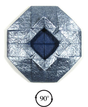 ваза оригами из бумаги 28