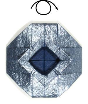 ваза оригами из бумаги 29