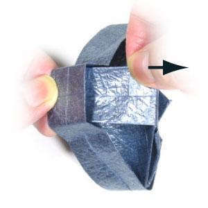 ваза оригами из бумаги 34