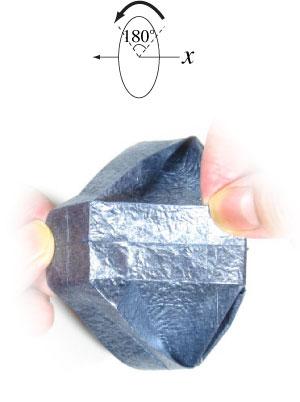 ваза оригами из бумаги 35