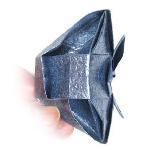ваза оригами из бумаги 36