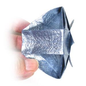 ваза оригами из бумаги 39