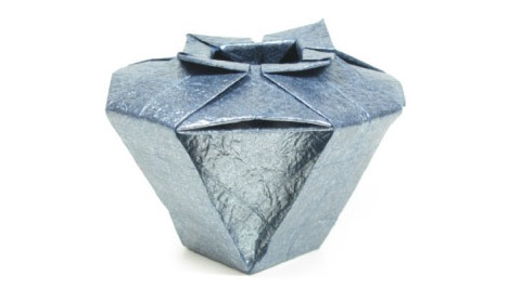 ваза оригами из бумаги 44