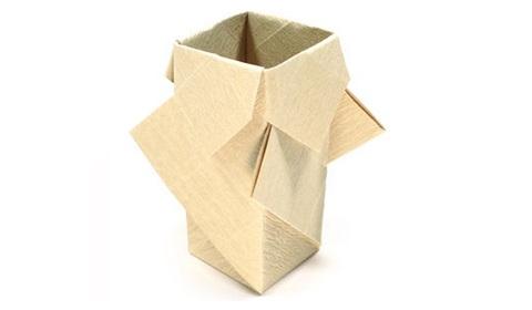 Оригами ваза с цветами схема фото 905