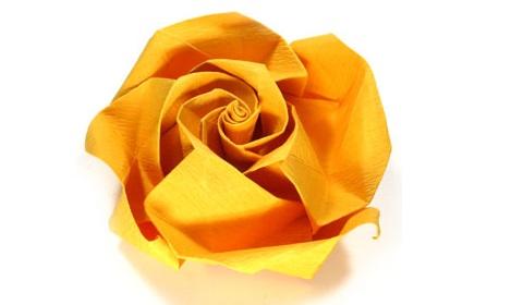 красивая роза из бумаги 55