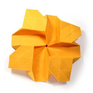 красивая роза оригами 45