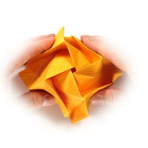 красивая роза оригами 48
