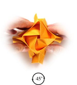 красивая роза оригами 49