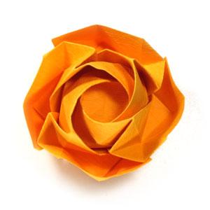 красивая роза оригами 80