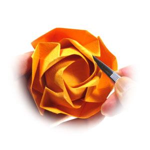 красивая роза оригами 82