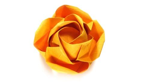 красивая роза оригами 88
